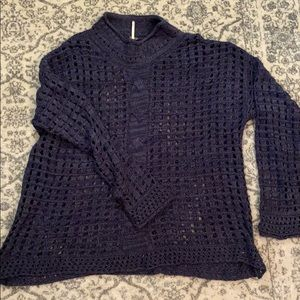 Free People high neck, large woven sweater